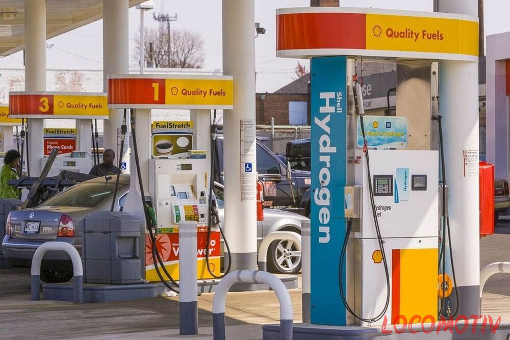 shell pump selling hydrogen fuel