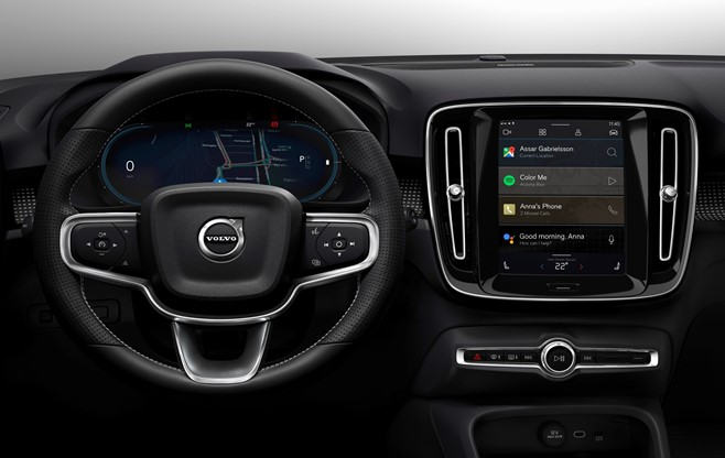 Volvo's XC40 recharge Steering and Inside